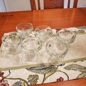 Vintage Glass Desert Cups